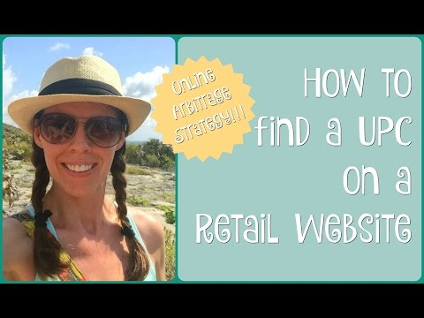 How to Find a UPC on a Retail Website for Amazon FBA Online Arbitrage