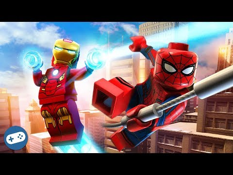 Lego Marvel's Avengers Spiderman and Iron Man Free Roam Gameplay Part 2