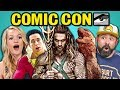 Adults React To Comic Con Trailers 2018 (Aquaman, Shazam, Glass) mp3