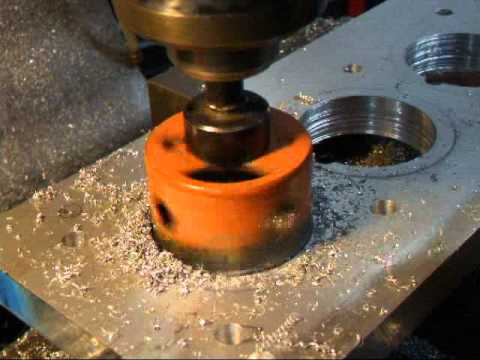 Cutting a Hole with Hole Saw for Torque Plate 1