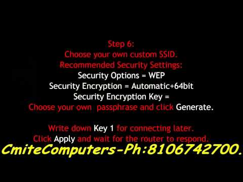 How to Configure Netgear Wireless G WGR614 v9 Router Without CD HD