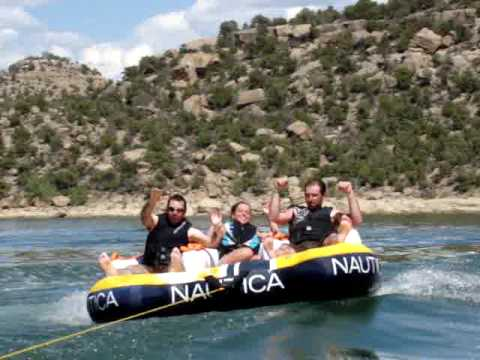 Will, Katlyn and Kevin tubing at Navajo
