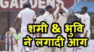 LIVE IND VS SL Test Match : श्रीलंका को लगा झटका, 10 बॉल में गिरे तीन विकेट