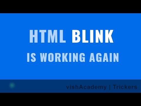 Blink animation on HTML elements