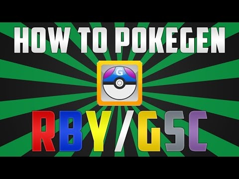 How to Use Pokegen for Gen 1/2