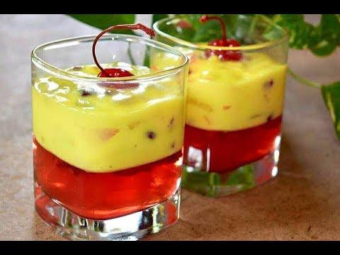 Fruit Custard with Jelly Desert || Jelly Fruit Custard || Jelly dessert recipe ||
