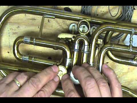 How to oil rotary valves on an antique trumpet