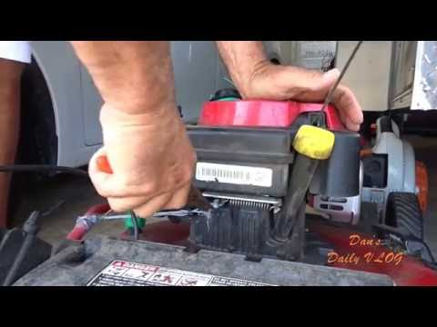 VLOG July 19 How To Replace Control Cable for Troy Bilt TB 360 PN 94605107A