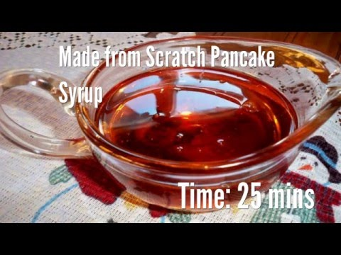 Made from Scratch Pancake Syrup Recipe