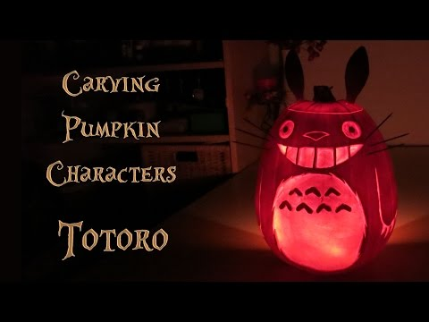 Halloween Totoro Pumpkin – carving and preservation