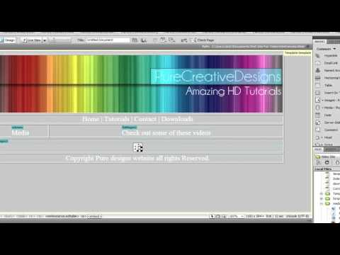 Dreamweaver cs4 Tutorial: How to embed quicktime,flv,mp4 and more into a webpage