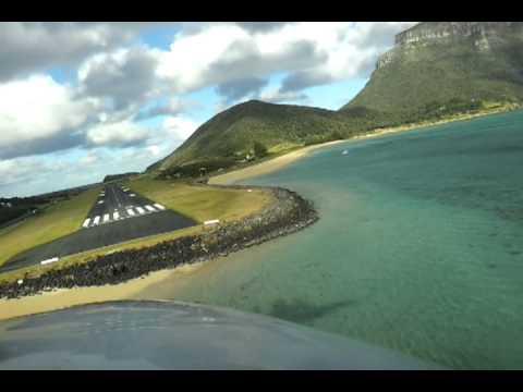 Landing at Lord Howe Island