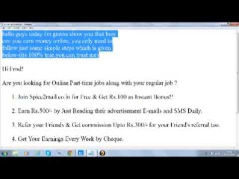 earn thousands of rupees sitting at home freely in few minutes
