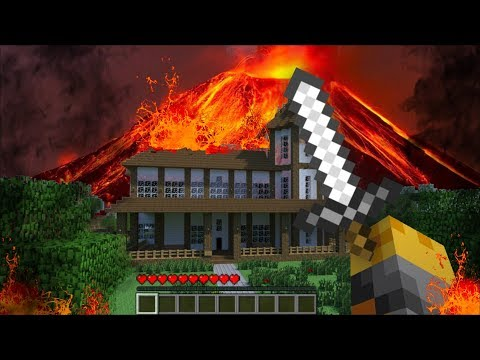 Minecraft: FAMILY VOLCANO HOUSE BASE BUILD CHALLENGE - NOOB