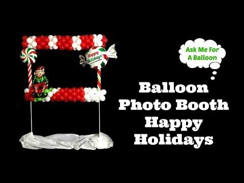 Balloon Photo Booth Happy Holidays