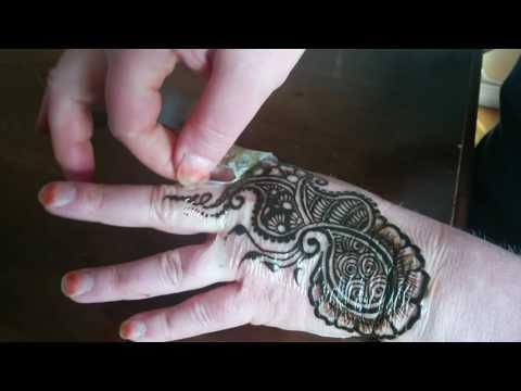 Removing tape & henna paste