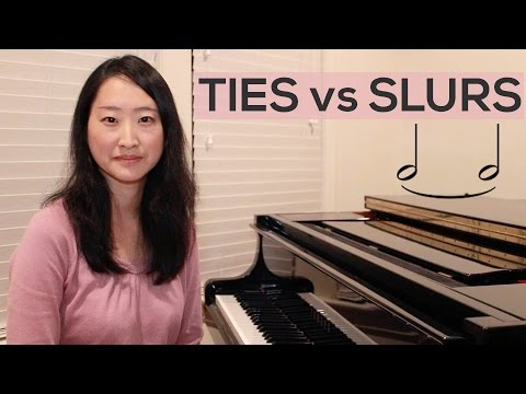 Tie vs Slur: How to tell the difference between a tie and a slur?