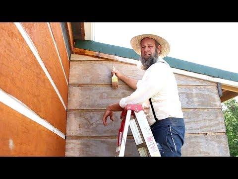 HOW TO MAKE A TINY HOUSE LOOK LIKE A LOG CABIN