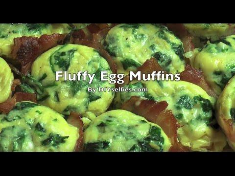 Fluffy Egg Spinach Muffins
