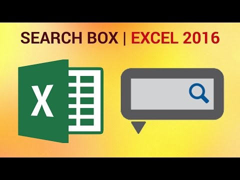 How to Create a Highlighting Search Box in Excel 2016