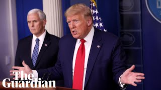 Coronavirus: Donald Trump and US task force give daily briefing – watch live