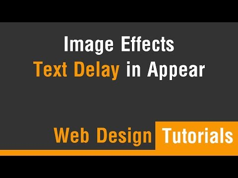 Arabic Tutorials - Create Image Text Delay In Appear Effects