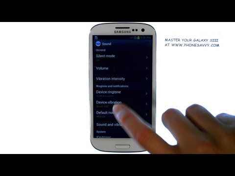 Samsung Galaxy SIII - How do I Change the Ringtone