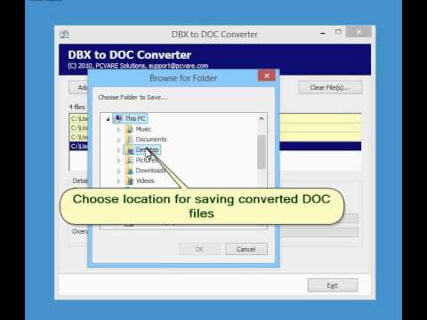 Convert Outlook Express DBX files to DOC