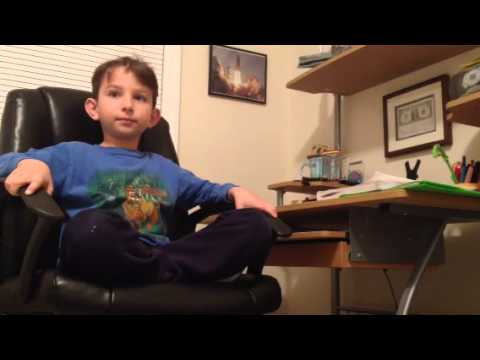 Talented kid taking a short spelling test