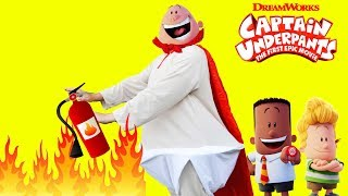 Dreamworks Captain Underpants Firemen with Harold and George Silly Funny Kids