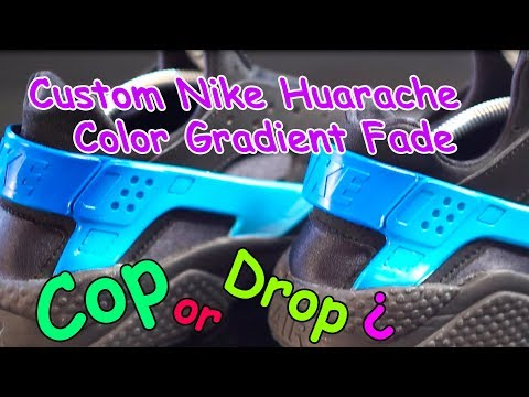 Custom Nike Huarache - Blue gradient fade
