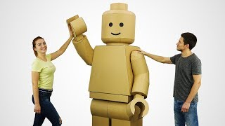 How to Make GIANT Lego Man Costume from Cardboard