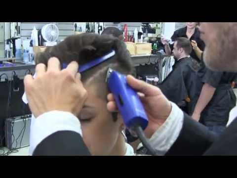 Women's sexy fade haircut