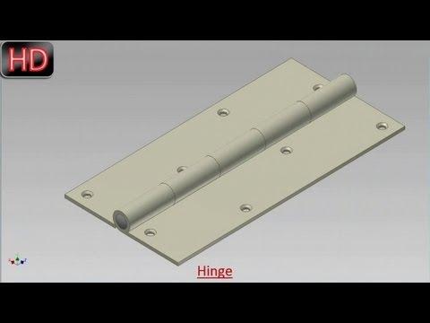 Hinge (Video Tutorial) Autodesk Inventor