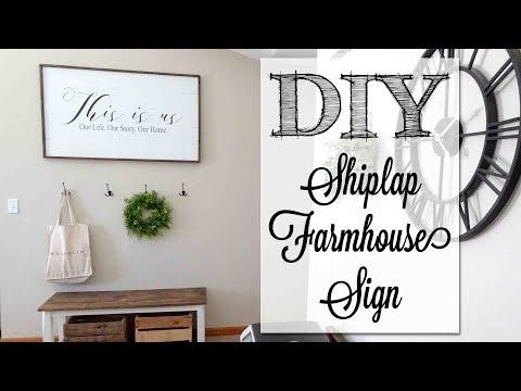 DIY HUGE Shiplap Farmhouse Sign