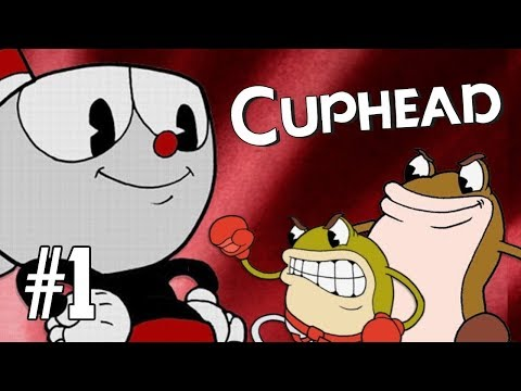 CUPHEAD Let's Play! RIBBY & CROAKS & PSYCARROT!   PC Part 1