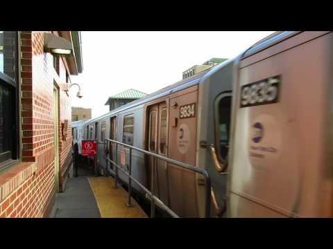 NYC Subway: Manhattan bound R160 F Train leaving Coney Island