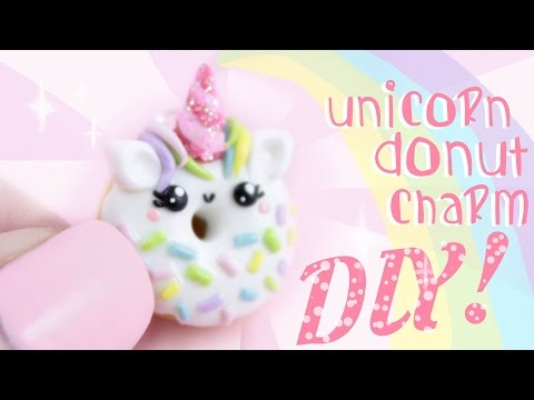 ♡ UNICORN Donut! DIY - In Polymer Clay ♡ | Kawaii Friday
