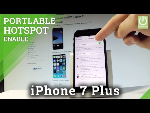 APPLE iPhone 7 PORTABLE HOTSPOT / Share Wi-Fi in iOS