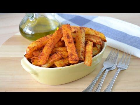 Paprika Roasted Potato Sticks - Easy Oven-Baked Potato Fries Recipe