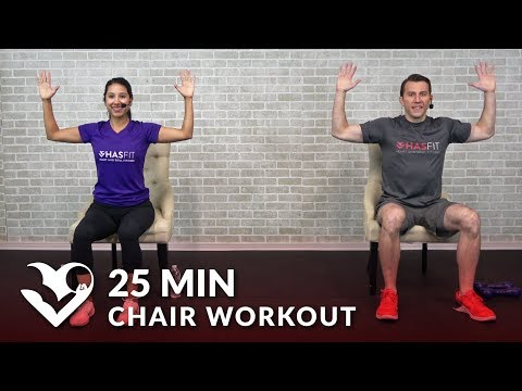 25 Min Chair Exercises Sitting Down Workout - Seated Exercise for Seniors, Elderly, & EVERYONE ELSE