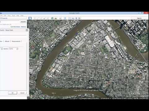 Google Earth Tutorial   How to add a line - path - to Google Earth