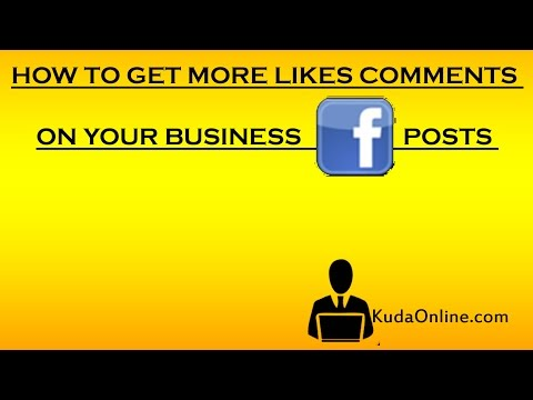 How to get more likes & comments on facebook posts