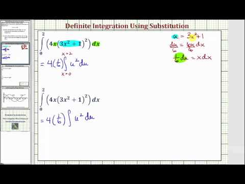 Ex 1: Definite Integration Using Substitution - Change Limits of Integration?