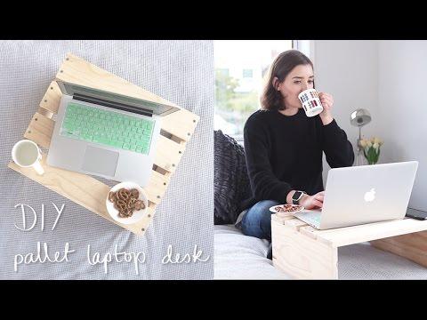 Pallet Laptop Desk DIY