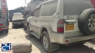 Customs department impounds 35 smuggled cars in Karachi