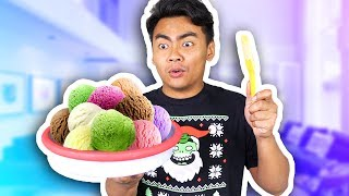 SCOOP THE PLATE TO MAKE ICE CREAM!