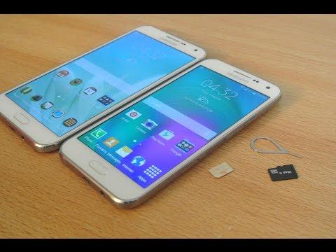 Samsung Galaxy E5 / E7 - How To Insert SIM Card & Micro SD Card HD