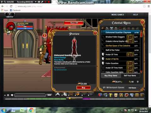 Aqworlds how to get DIshonored Guardian Claymore 2015:D