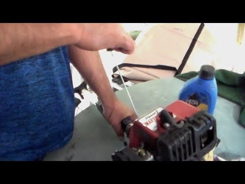 fix stuck Pull string and motor WeedWacker(Homelite)
